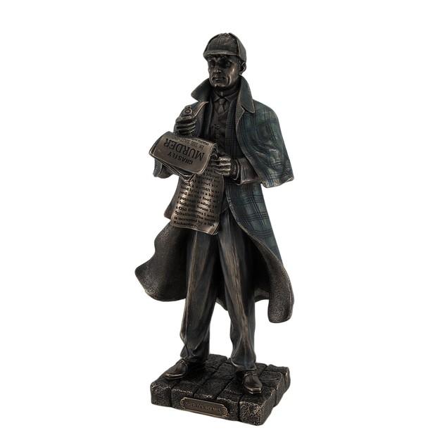 Detective Sherlock Holmes Metallic Bronze Statue Statues