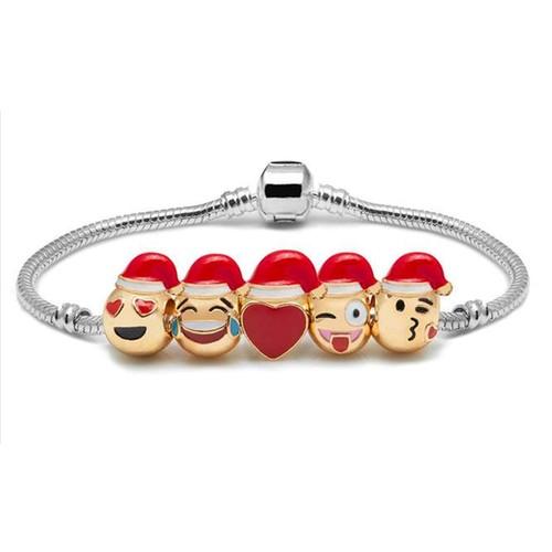Emoji Holiday Charm Bracelets