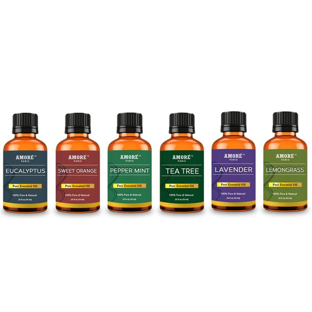 Amore Paris Aromatherapy 100% Pure Therapeutic-Grade Essential-Oils