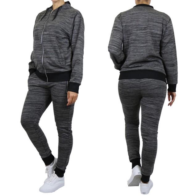 Women's Fleece & Marled Tech Hoodie & Jogger Set