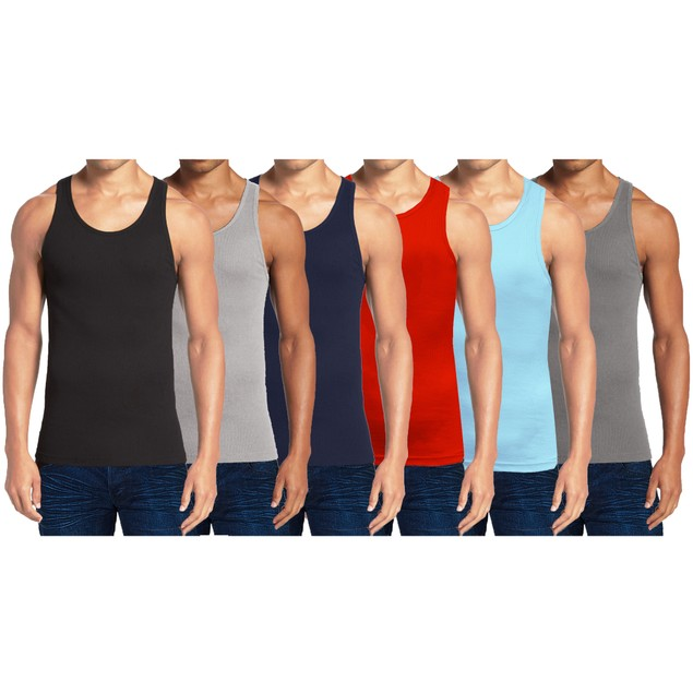 Men's Heavyweight Ribbed Tank Top (5-Pack)
