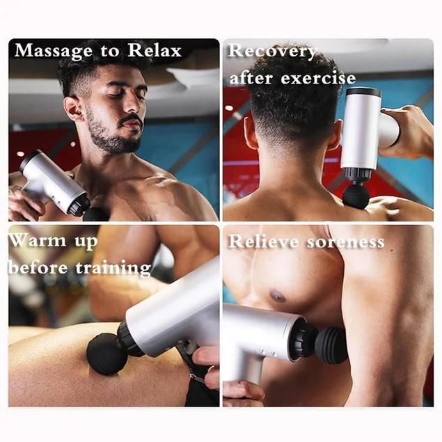 VivaSpa Handheld Deep Tissue Percussion Massager w/ 4 Attachments