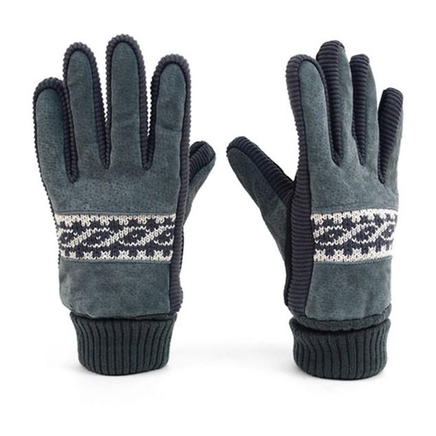 Westend Men's Genuine Leather Non-Slip Grip Winter Gloves