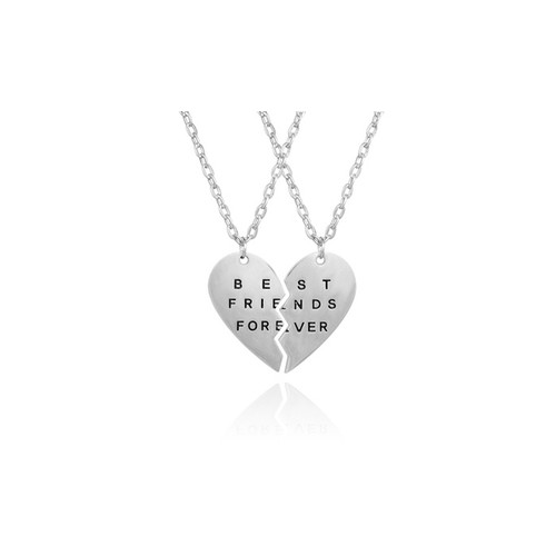 """Engraved """"Best Friends Forever"""" Sterling Silver Necklace"""