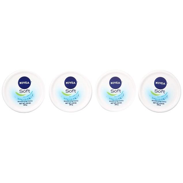 4-Pack NIVEA Soft Moisturizing Creme, 6.8 Ounce