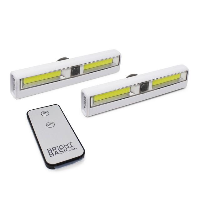2-Pack Bright Basics Ultra-Bright Wireless Light Bars w/ Remote Control