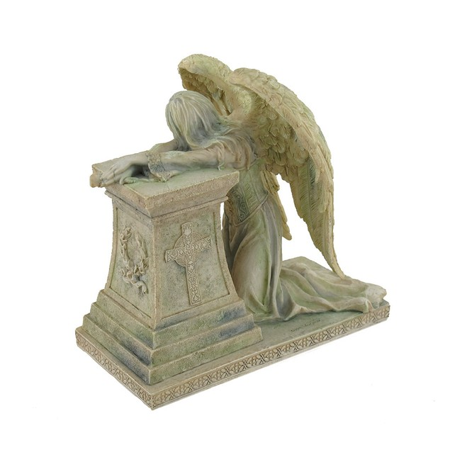 Gothic Weeping Angel Of Grief Stone Finish Statue Statues