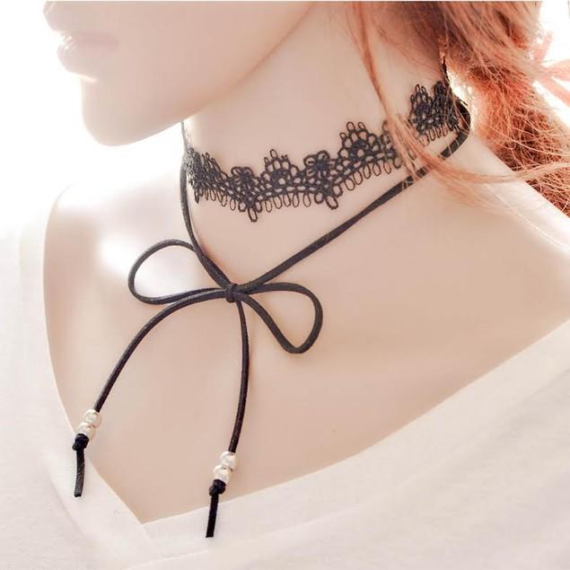 Lace Tie Necklace