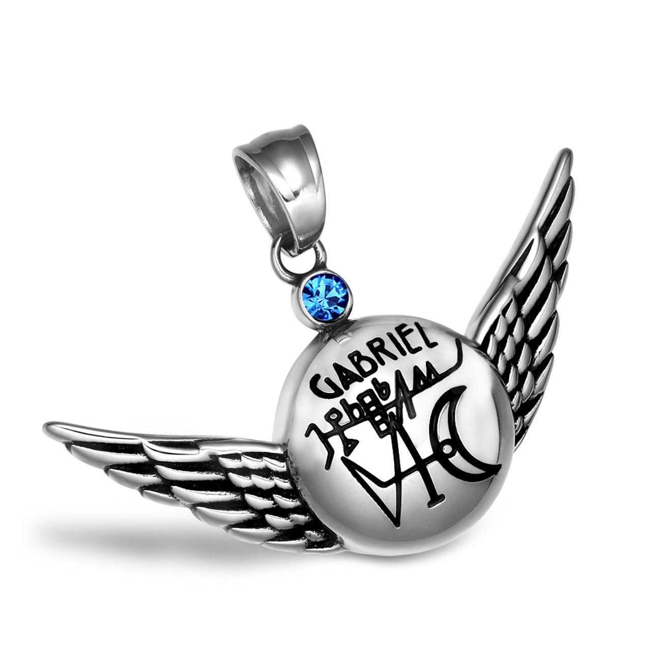 Magic Planetary Archangel Gabriel Angel Wings Amulet 18 Inch