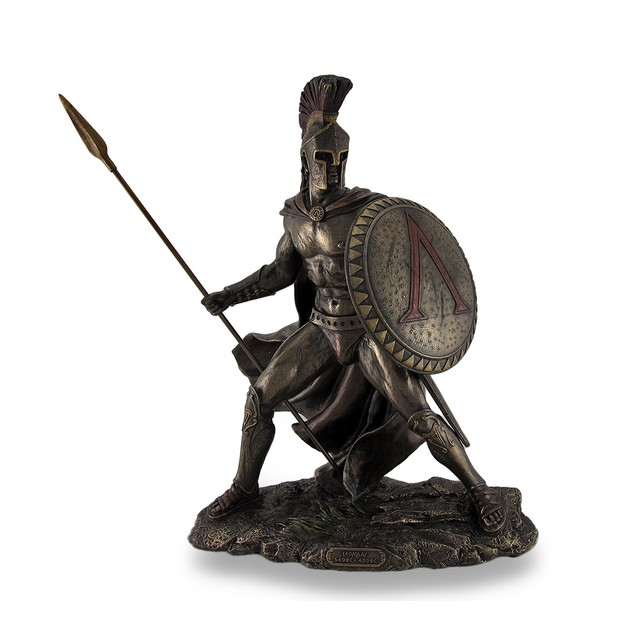 Leonidas, Greek Warrior King, Bronzed Sculptural Statues