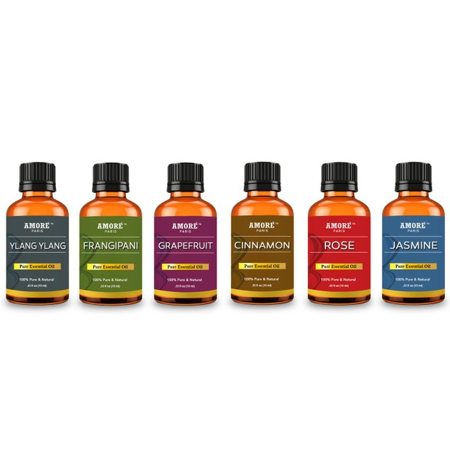 Amore Paris Aromatherapy 100% Pure Therapeutic-Grade Essential-Oils