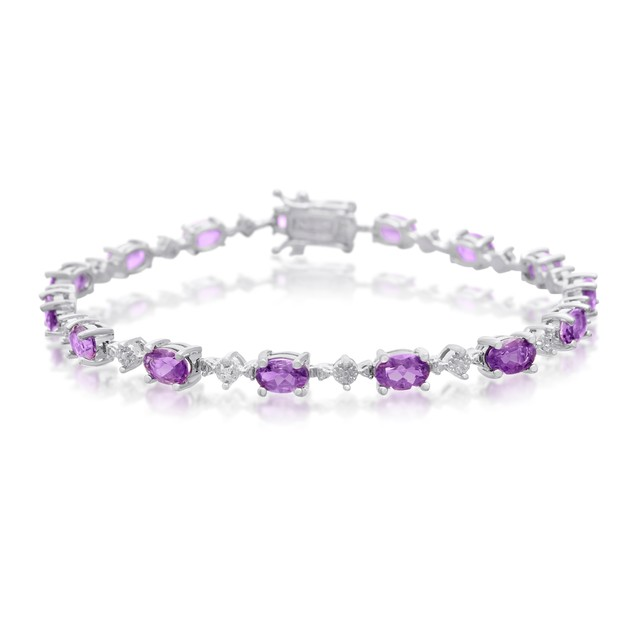 Amethyst and Diamond Bracelet 6.76cttw