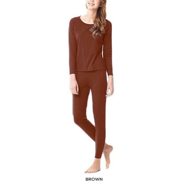 Women's Fleece Lined Thermal Underwear Set Top & Bottom