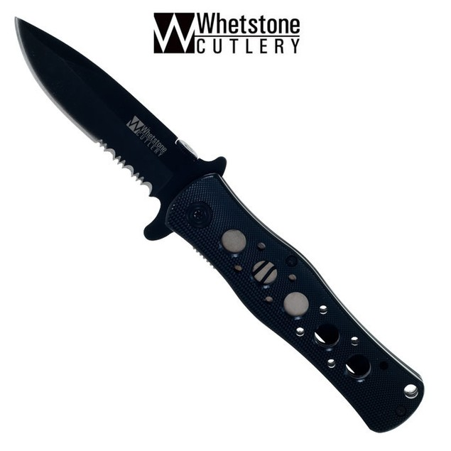 Whetstone 4.5 Inch Black Firm Tactical Pocket Knife