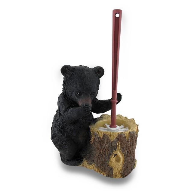 Black Bear Butler Toilet Brush And Holder 2 Piece Toilet Brushes