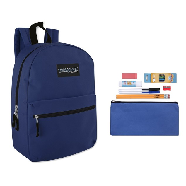 "Trailmaker Classic 17"" Backpack + 12 Piece School Supply Kit"