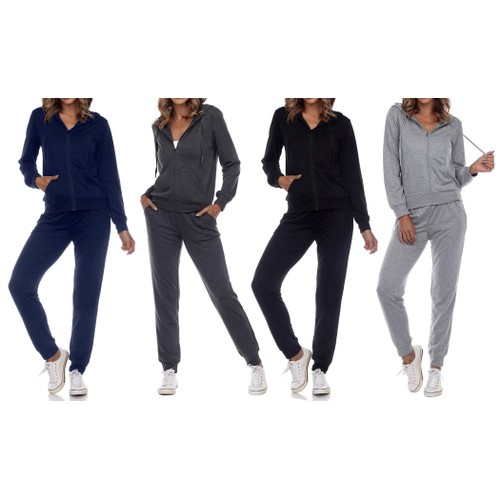 2-Pack Women's Jersey-Knit Hoodie & Jogger Sets (2-Full Sets)