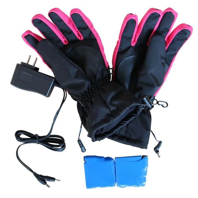 iPM Pink & Black Women's Battery Heated Gloves