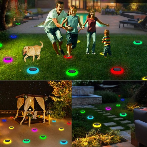 4 Pack: Colorful Solar Lights Outdoor