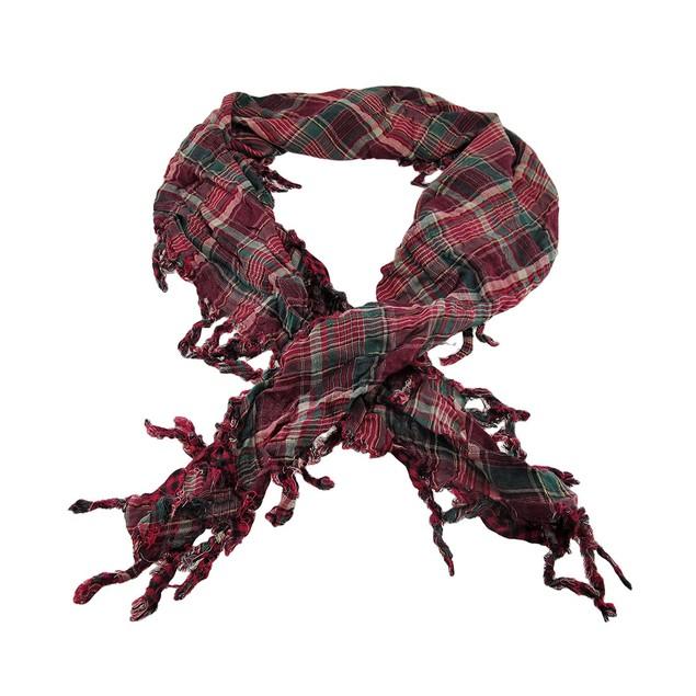 Fuchsia Plaid Triangular Reversible Neck Scarf Womens Fashion Scarves