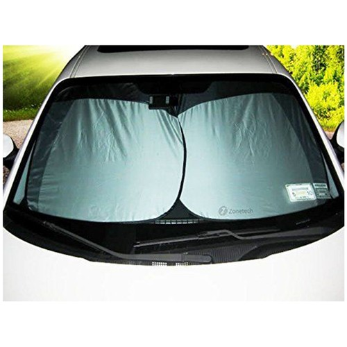 2-Pack Zone Tech Nylon Car Vehicle Windshield Summer Sun Shade Protection