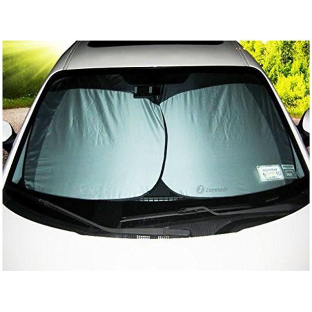 2-Pack Zone Tech Nylon Car Vehicle Windshield Summer Sun Shade Protection