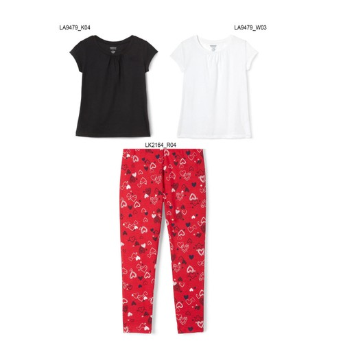 3-Pack French Toast Girls Summer Set - Hearts