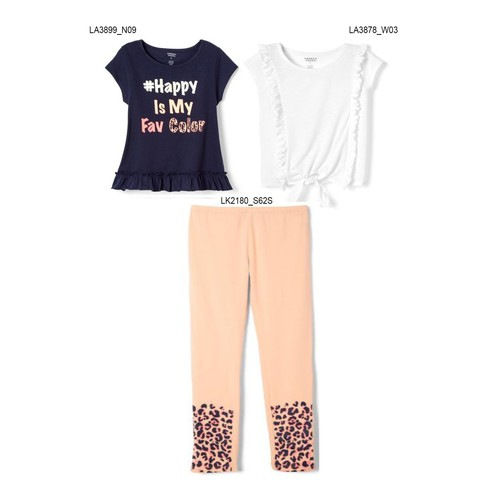 3-Pack French Toast Girls Summer Set - #Happy is My Fav Color