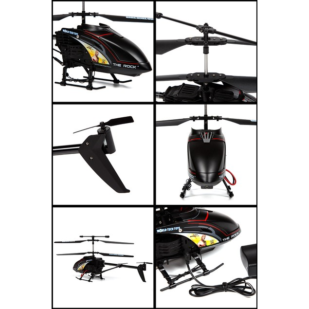 3.5ch The Rock Unbreakable Remote Control Gyro Helicopter