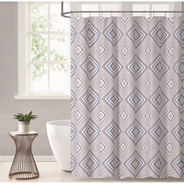 "Stylish Home Durable & Waterproof 70"" x 72"" Printed Shower Curtains"