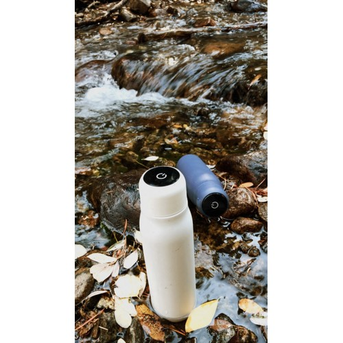 Insulated Self-Cleaning Stainless Steel Water Bottle W/ UV Water Purifier