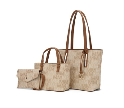 MKF Collection 3PC Aylet M Tote with Mini Bag and Wristlet Pouch by Mia K. Was: $299 Now: $42.99.