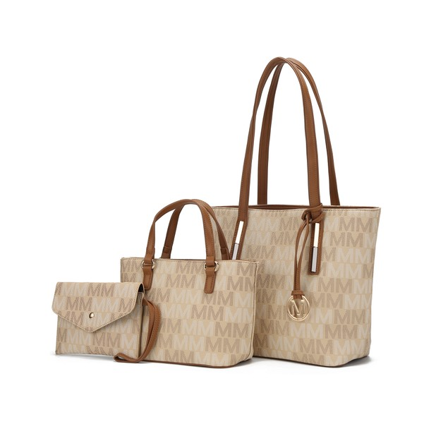 MKF Collection 3PC Aylet M Tote with Mini Bag and Wristlet Pouch by Mia K.