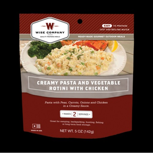 Wise Foods Outdoor Meals - 6-Pack Creamy Pasta and Vegetables with Chicken