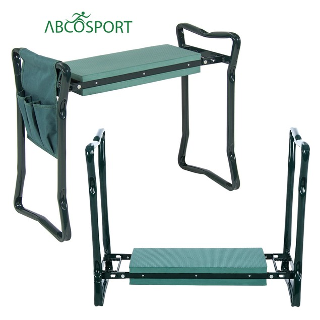 Foldable Garden Kneeler Bench & Seat w/ Garden Gloves