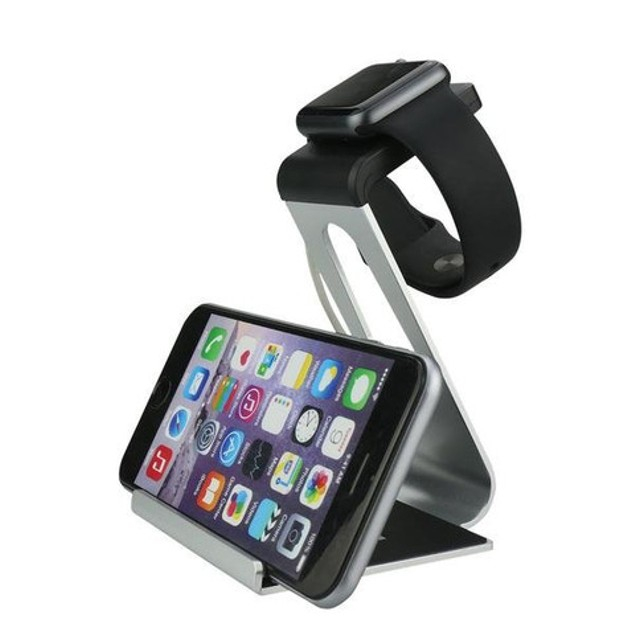 iPM Aluminum Alloy Dual Apple Watch Stand & iPhone Dock