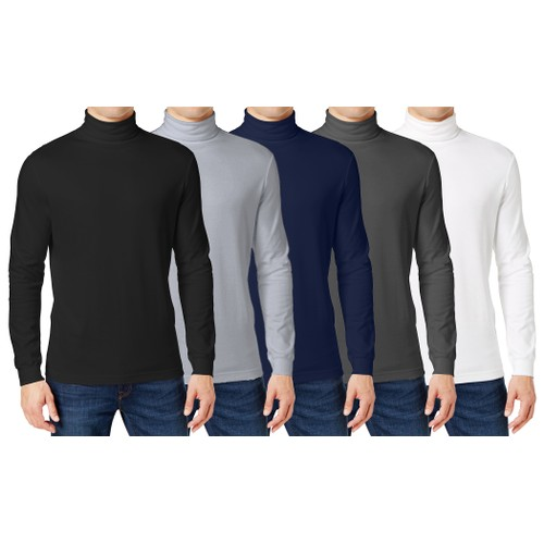 Men's Long Sleeve Turtle Neck T-Shirt (Sizes, S to 2XL)