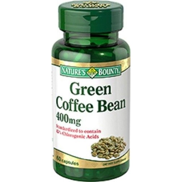 Natures Bounty Green Coffee Bean 400 Mg 60 Capsules