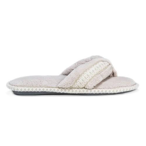 MUK LUKS  Darlene Micro Chenille Thong Slippers
