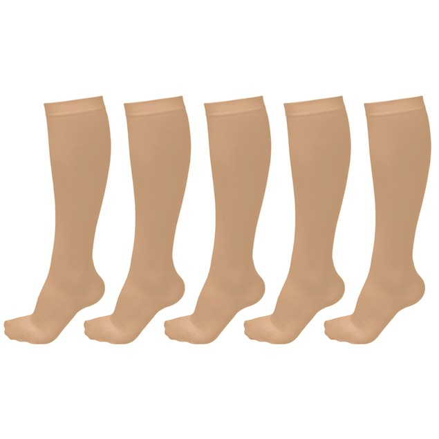 xFit Unisex Graduated Compression Socks - 5 Pairs