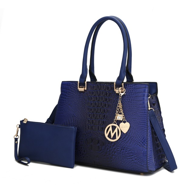 MKF Collection Navi Satchel Bag with Wristlet Pouch by Mia K.