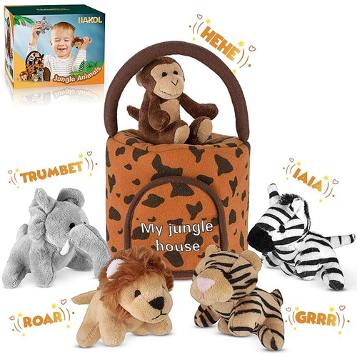 Hakol Jungle Educational Set - Realistic Sounding Stuffed Animals