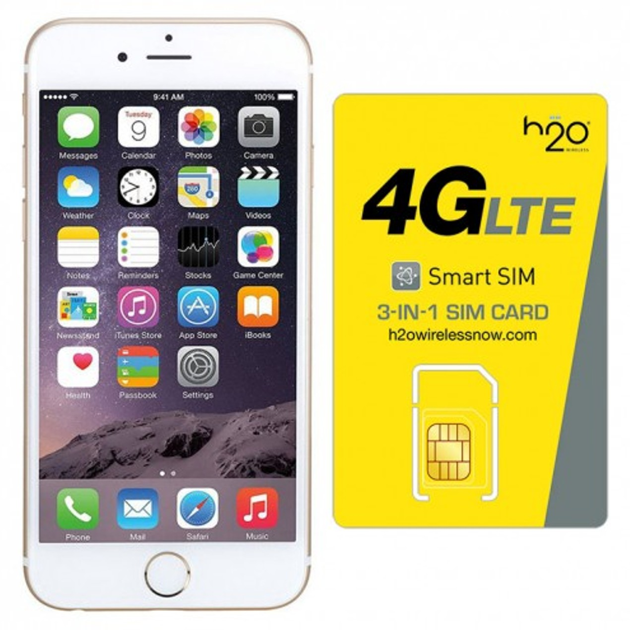 Apple Iphone 6 Plus 16gb Att Gold W Sim Card Tanga