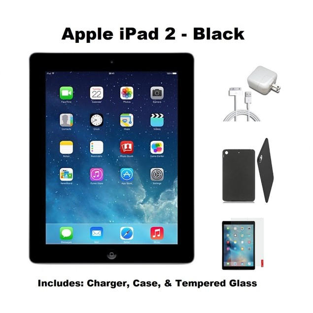 Apple iPad 2 MC769LL/A 16GB Bundle (Case, Charger, Screen Protector, iPad)