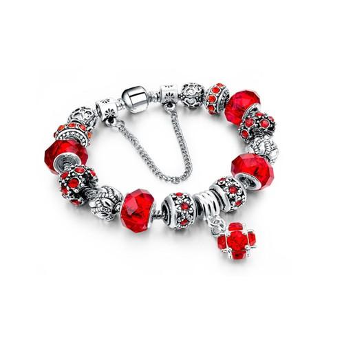 Silvertone Charm Bracelet - 5 Colors
