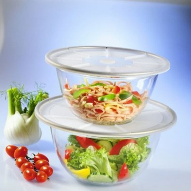 MagicCover Transparent Silicone Storage Lids -  2 Piece Set