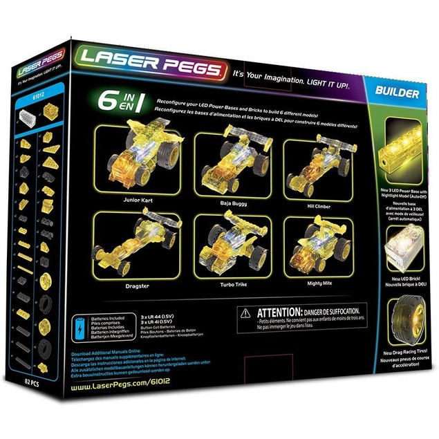 Laser Pegs Dragster 6-in-1 Building Set Building Kit