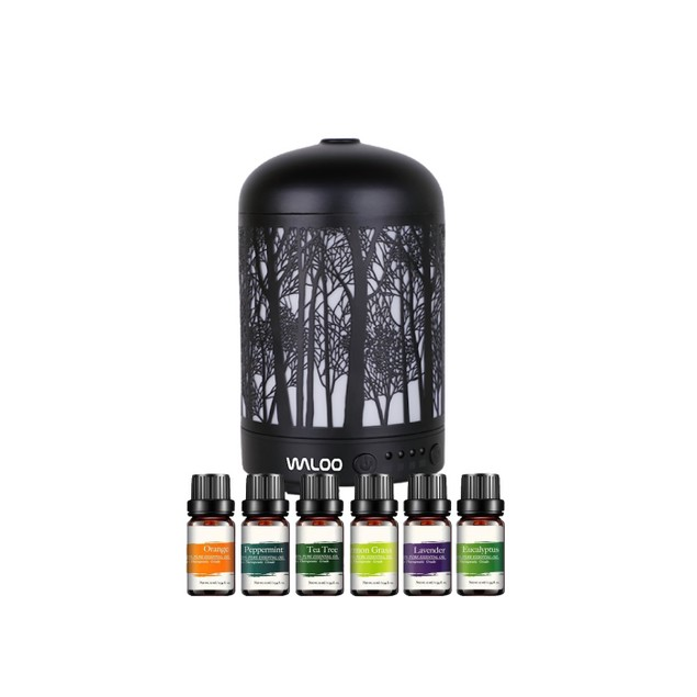 Waloo Mini Aromatherapy         Diffuser - 100ml -        With 6 Pack Oils