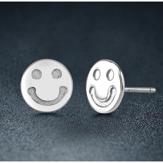 Sterling Silver Smiley Earrings