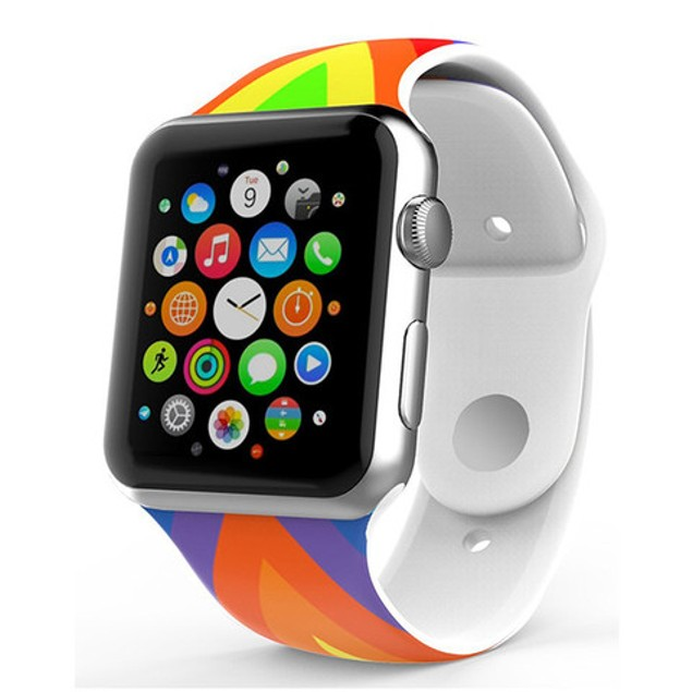 iPM Soft Silicone Flag Band for Apple Watch